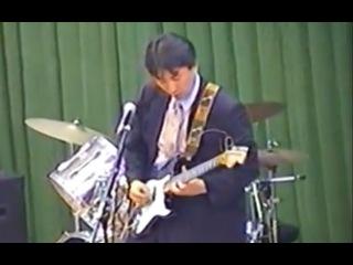 High school teacher played Yngwie Malmsteen.2001.酒田工業高校.酒工祭Live