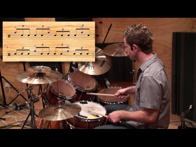 Jazz Drum Fill - 5's Over Triplets - Icanplaydrums.com