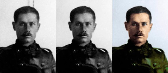 Григорий Яковлевич Кислов, убраны артефакты, раскрашено