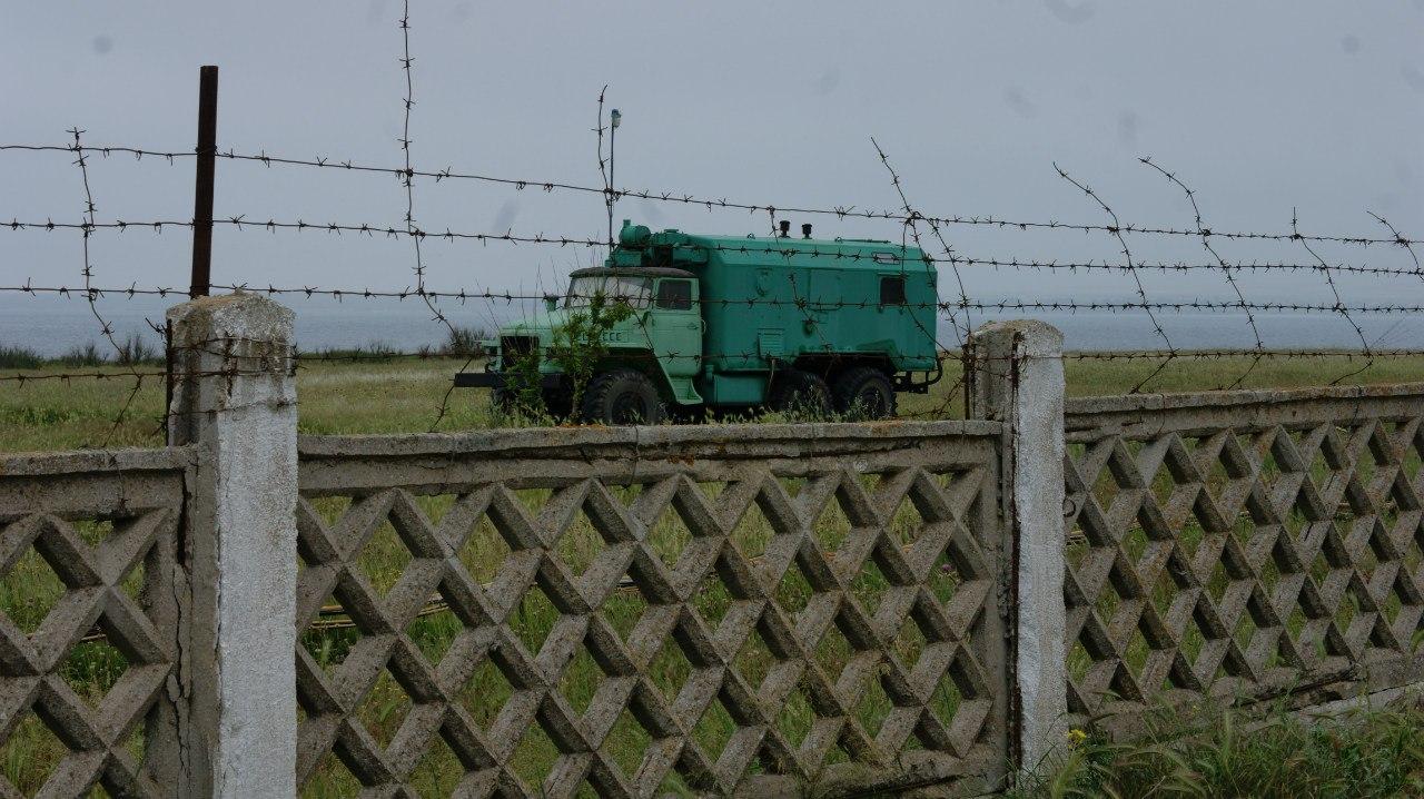 Тарханкутский маяк машина связи.