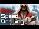 Digital Speed Drawing: Ezio from Assassin's Creed