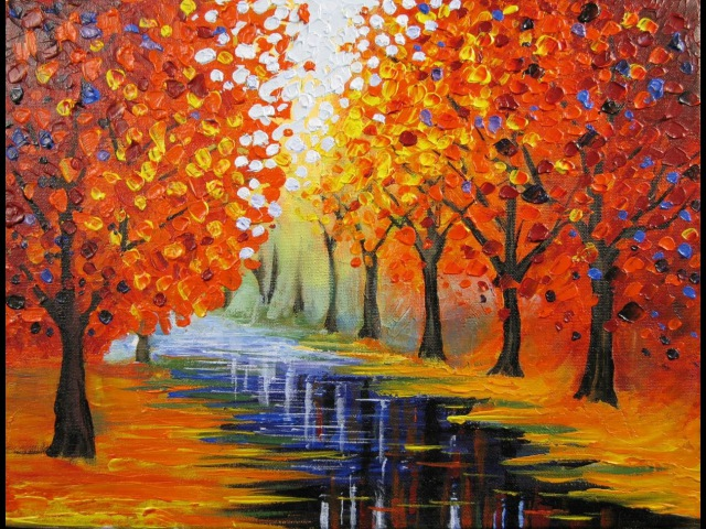 Art Lesson How to Paint an Easy Leonid Afremov Inspired Piece
