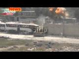 Сирия. Уничтожение боевиков фронт Анусра. Сьёмки с места событий.