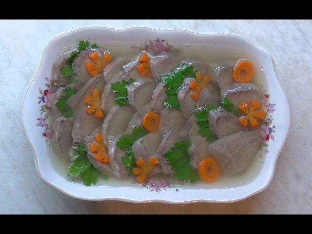 Заливной свинной язык Jellied pork tongue