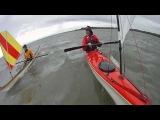 Sea kayak sailing with Stevatron