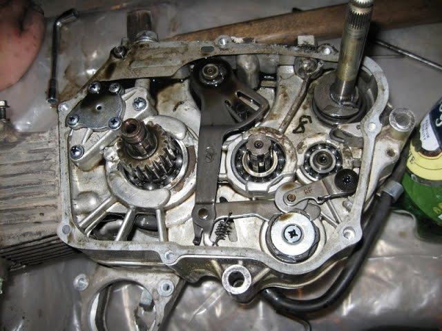Полная сборка двигателя китайского мопеда ( альфа/дельта)