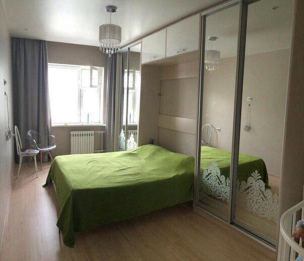 Дизайн с кроватью шкаф