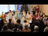 Танец снежинок на новогоднем утреннике в детском саду.