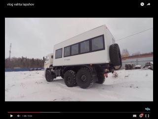 Влог УралСТ. Вахтовый автобус Камаз из  СЭНДВИЧ панелей  / код модели 7376