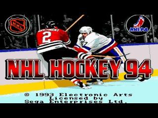 NHL '94 gameplay (Sega Mega Drive/Genesis).