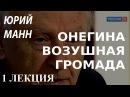 ACADEMIA Юрий Манн Онегина воздушная громада 1 лекция Канал Культура