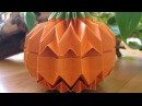 "Origami Jack O´ Lantern how to fold a ""Grid"""