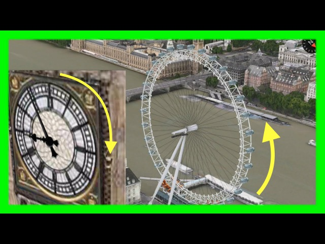 London Eye Big Ben's Clock now Animated on Apple Maps 3D Flyovers on iOS Mac OSX