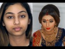 Indian Bollywood South Asian Bridal Makeup Start to finish @blueroseartisrty