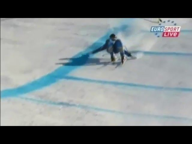 Alpine Skiing Mistakes and Crashes