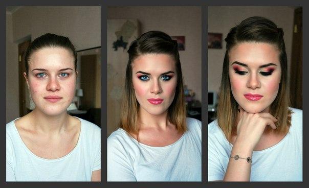 Вечерний макияж для брюнеток с бледнойкожей