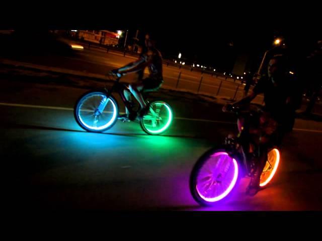 Как сделать подсветку колес велосипеда