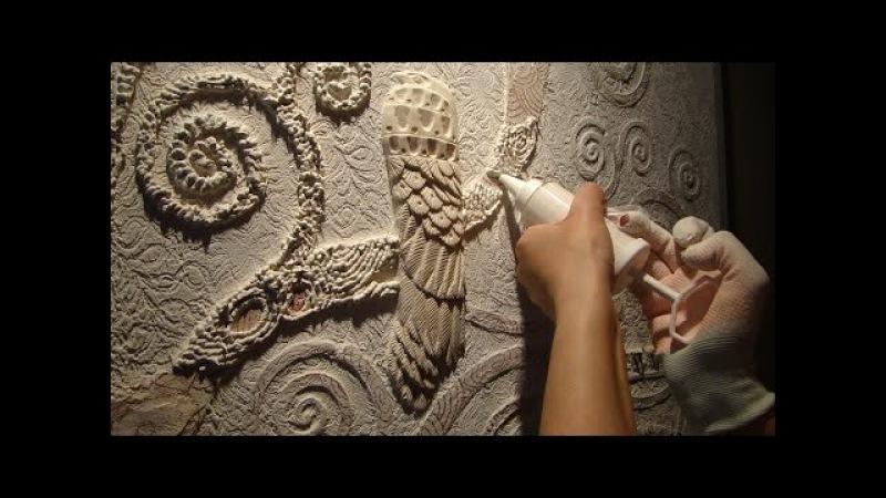 Мастер Класс Барельеф дерева Климта ЧАСТЬ 1(3) Создание барельефа своими руками