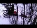 Ирбис Dingo T125 по рыхлому снегу в Мурманской области