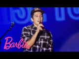 Austin Mahone at Barbie Rock n Royals Concert Experience Barbie