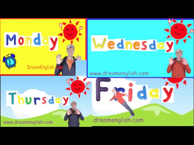 Weekday Songs: Monday, Tuesday, Wednesday, Thursday, Friday