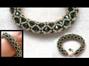 Beading4perfectionists : Netted beaded bracelet with 6mm Swarovski and seedbeads beading tutorial