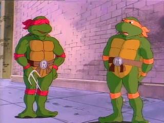 Черепашки ниндзя (Teenage Mutant Ninja Turtles) - Нападение пришельца (2 Сезон, 3 Серия)