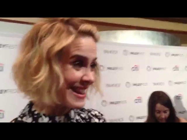 Sarah Paulson (AHS Freak Show) interview TWO Emmys for Bette and Dot