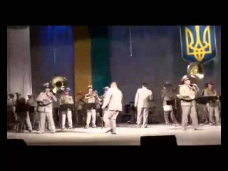Neon Genesis Evangelion opening by Ukrainian military band.