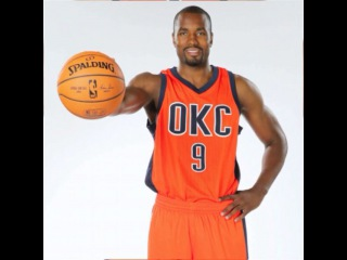 Thunder unveils new alternate uniform for 2015-16. It's the Thunder color of the Oklahoma sunset with a bold navy OKC on the jersey.
