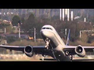 Самолёт шоу - Сложная посадка и взлёт при встречном ветре
