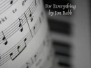 For Everything by Jon Babb