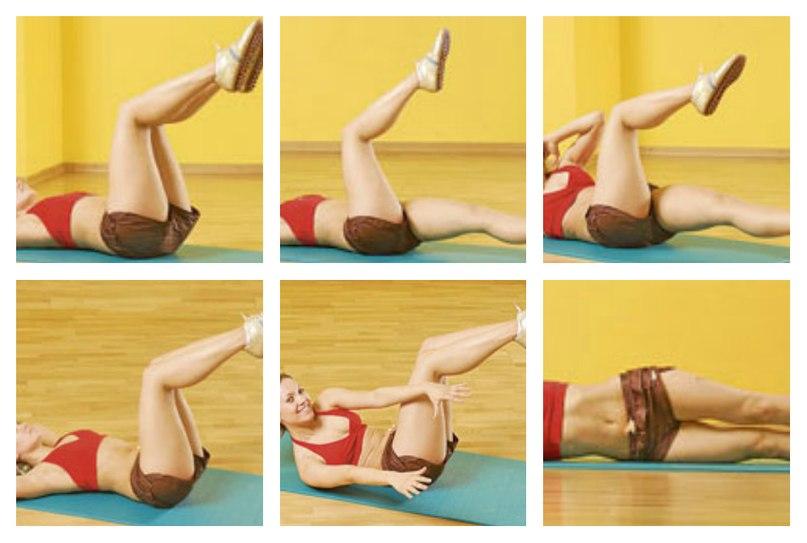 Упражнения на ноги и бока в домашних условиях 176