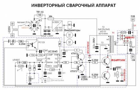 блок конденсаторов и схема