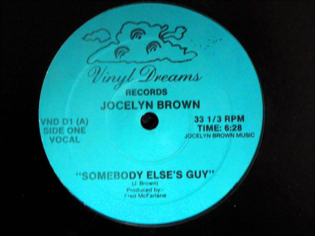 Jocelyn Brown Somebody Else´s Guy Original 12 inch Version 1984