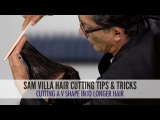How to Cut a V Shape Into Long Hair