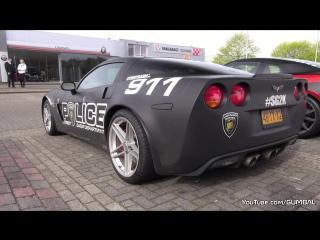 Chevrolet Corvette C6 Z06 - Burnout, Donuts! автомобиль, машина, тачка, суперкар, спорткар, Шевролет, Корвет, звук двигателя
