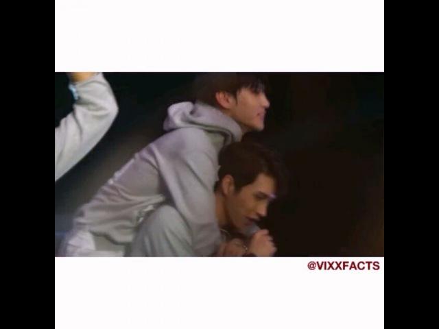 "@vf.chan on Instagram: ""I spotted Keo . He grabbed Ken's hoddie and did a piggy back . vixx vfvideos taekwoon jaehwan vixxinsg"""