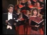 Пласидо Доминго и Сара Брайтман  1985 год  Нью Йорк  Реквием  Андрю Ллойд Веббер