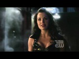 Erica Durance in black PVC on Smallville