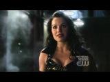 Erica Durance in black PVC on Smallville