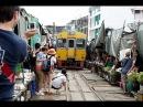 Maeklong Train Market Train Bangkok Thailand
