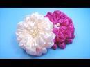 ПЫШНЫЙ ЦВЕТОК из атласной ленты. Мастер-класс / Satin Ribbon Flower Tutorial / ✿ NataliDoma