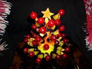 Елочка из фруктов! №2 Christmas tree of fruit! Украшения из фруктов! Decoration of fruit!