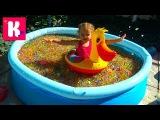 Бассейн с ORBEEZ сюрпризы игрушки с разноцветными шариками Орбиз Challenge surprise toys unboxing