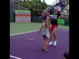 "Victoria Azarenka getting in on the fun at Kids Day at the Miami Open! @vichka35"""