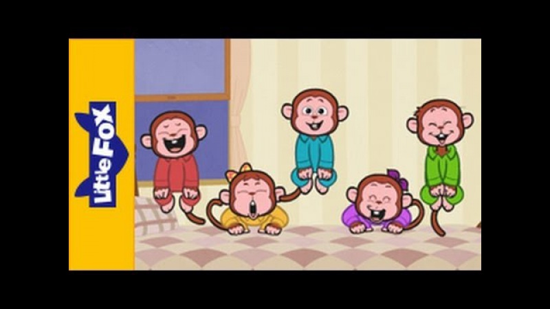 Five Little Monkeys Jumping On The Bed | Nursery Rhymes | By Little Fox