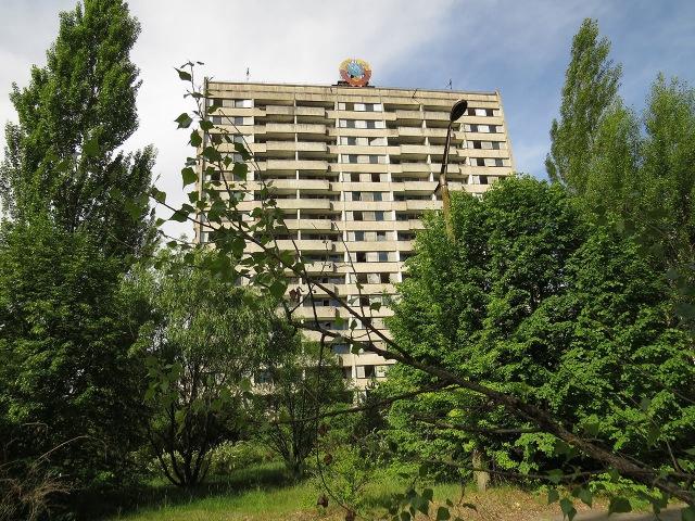 Путешествие по Припяти 4 16 этажка СССР Trip in Pripyat 4 16 story building