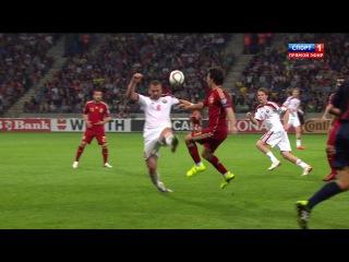 Белоруссия - Испания . 14.06.15 ЧЕ 2016 . 2 тайм