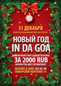 31 декабря NEW YEAR IN DA GOA by koshkinы